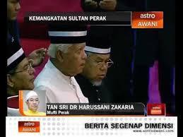 Demikian makluman yang disampaikan melalui laman facebook jabatan mufti negeri perak. Kemangkatan Sultan Perak Tan Sri Dr Harussani Zakaria Video Dailymotion