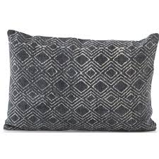 Charcoal <b>Diamond Print</b> Bolster – High Fashion Home