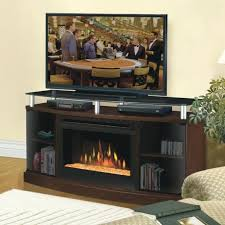 stand with electric fireplace throughout dining room inch regard to tv console costco alluring for your