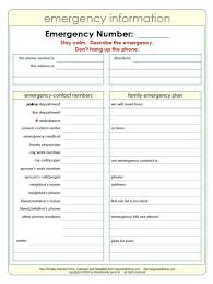 Emergency Contact Printable Free Printable Emergency Contact Information Sheet To Have Important