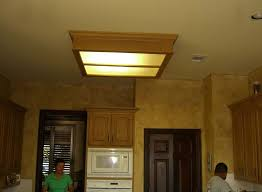 charming kitchen ceiling lights with wooden box