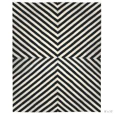 black white rug runner