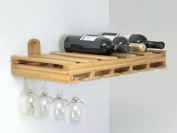 wall wine glass holder rack hanging mounted bathroom