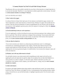 Need To Do A Resume Ppt 5 Common Mistakes You Need To Avoid While Writing A