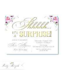 Birthday Invitations Printable Surprise Party Images On Free