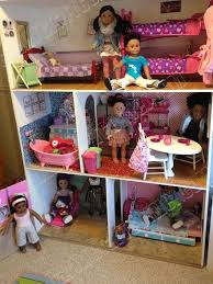 american girl dollhouse diy for 150 18 doll room furniture free instructions camiscraftcorner american girl furniture ideas