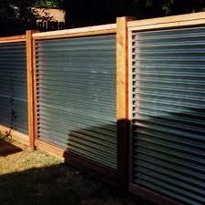 corrugated metal fences. Exellent Fences Horizontal Corrugated With Cedar Fence Inside Corrugated Metal Fences T