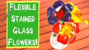 easy diy projects flexible stained glass flowers