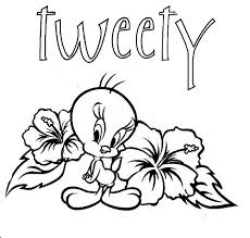 Small Picture Printable Tweety Bird Coloring Pages Coloring Me