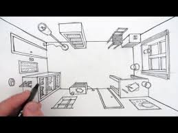 couch drawing birds eye view. how to draw a room in one point perspective: bird\u0027s eye view couch drawing birds h
