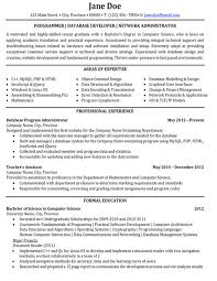 Click Here to Download this Programmer or Database Developer or Network  Administrator Resume Template! http