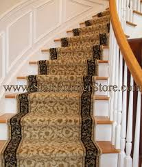 curved stair runner installation 4409