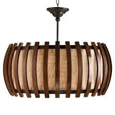 dadelus wood and burlap slat mid century style pendant lamp kathy kuo home