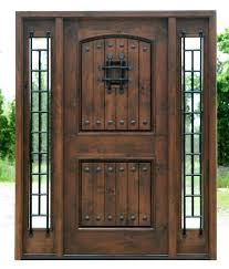 wood and iron front doors wood glass and wrought iron front doors