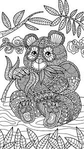 Zentangle Panda Bear Coloring Page