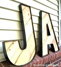 giant wooden letters oversized letter blocks how to make en