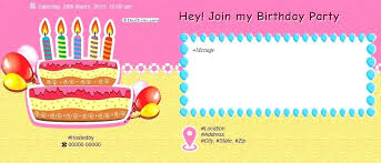 Invitations Card Maker Card Birthday Invitations Birthday Invitation Card Maker Free