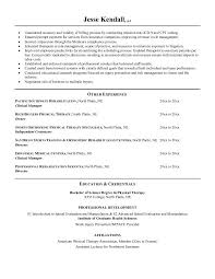 Physical Therapy Resume Amazing Physical Therapist Resume Resume Badak