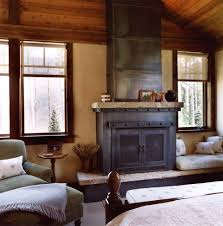 Rustic Electric Fireplace Bedroom Rustic With Fireplace Mantel Faux Finish  Roller Blinds