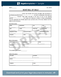 Bill Of Sale Form Create A Free Vehicle Car Generic Template