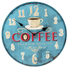 london s wall clock coffee 34cm