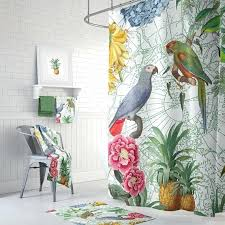 parrot shower curtain like this item hooks