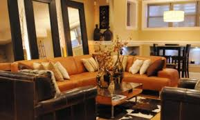 burnt orange and brown living room. Burnt Orange Living Room   Home Design Ideas With Regard To And Brown N