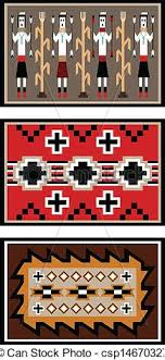 Image Two Grey Navajo Blanket Designs Csp14670327 Two Grey Hills Navajo Blanket Designs Vector Illustration Of Three Blanket Or Rug