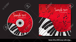 Cd Design Music Red Music Vector Cd Or Dvd Cover Design With Piano And Notes