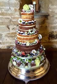 Naked Wedding Cake Fruit Flowers Cakes For All Uk