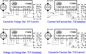 analog voltage current signal isolation amplifier module ic wiring and pcb board layout diagram