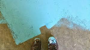 clean painted wallsDIY Painted Particle Board Floor Mmmm Teal  Dans le Lakehouse