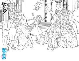 Coloring Pages Barbie Princess Charm School Color Bros