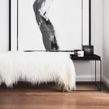 himalayan goatskin rug white