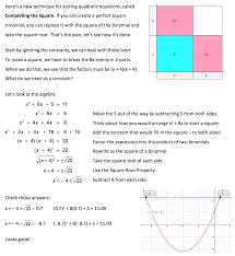completing the square deriving the quadratic formula