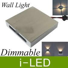 <b>Modern led</b> step <b>light</b> square <b>led</b> wall <b>lamp light</b> 110 240v indoor ...