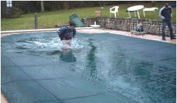 winter pool covers. Winter Debris Pool Cover System Covers