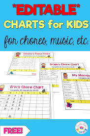 Free Charts For Littles Editable Charts For Kids Kids