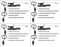 most dangerous game worksheet worksheets kids voice social