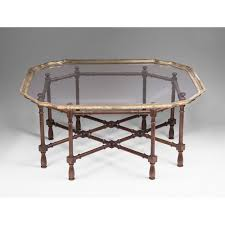 pretty vintage baker furniture faux bamboo coffee table with glass top float ps1 bamboo glass coffee
