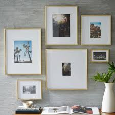wall picture frame sets gallery frames ikea stylish brass photo frame in rectangular