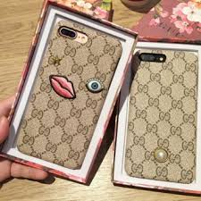gucci 7 plus iphone case. gucci fashion embroider silica gel phone case iphone 6 s mobile shell 7 plus iphone