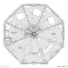 maison ronde plan de 21 pièces et 107 m2