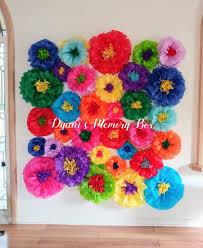 Tissue Paper Flower Decor Fiesta Tissue Paper Flowers Backdrop Coco Birthday Party Decor