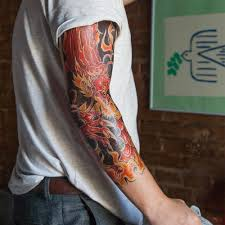 Arm Tattoo Dragon Set Of 1