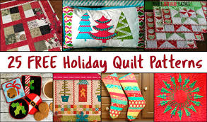 25 Free Christmas Quilt Patterns • Freemotion by the River &  Adamdwight.com
