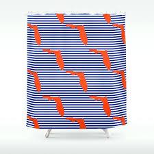sports shower curtain university gators orange and blue college sports football stripes pattern shower curtain vintage