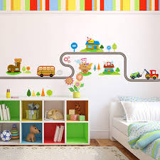 hot cartoon wall stickers baby baby room bedroom kindergarten wall decoration sticker wallpaper cartoon car wall decals for bedrooms wall decals for