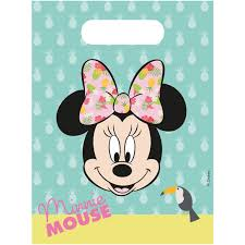 Minnie Mouse Tropical Gift Bags 6 Pieces