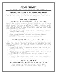 Entry Level Hvac Resume Sample Hvac Resume Objective Examples For Study Shalomhouseus 10